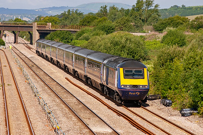 A second up Swansea service speeds by with 43142 with 43151 forming 1L38 0800 off to Paddington.