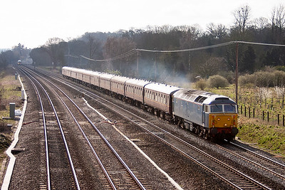 This was a real surprise, FM Rail's Nanking Blue liveried 47712 heads west with 5Z47 Old Oak Common to Minehead ECS. The stock is the SRPS mkI train from Bo'ness.