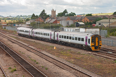 158967 is seen again heading back to the south coast town of Portsmouth with 1F25 1530 off Cardiff.