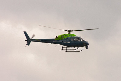 G-LINE is a Eurocopter France AS355N Ecureuil II helicopter built in 1994. It is powered by two Turbomecca Arrius 1A engines. The National Grid use the airframe to check their overhead power lines.