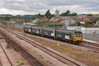 A two hour trip for any passengers doing the journey from Cardiff to Taunton could be quite an ordeal. Pacers 143617 and 143618 undertake this trip running as 2C81 1600 off the Welsh capital.