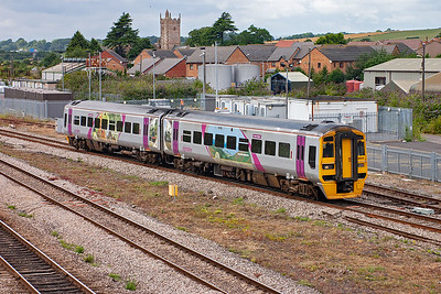 158855 promotes the Exmoor area and is utilised on 1F19 1330 Cardiff to Portsmouth Harbour, nowhere near Exmoor.