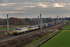 The class 350 had also held up the early running 4S44 Daventry Coatbridge which crawls away northwards behind 90048 and 90044 24 November 2018