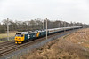 Preserved class 50s - 50049 and 50007 passing Winwick  on 14th April 2018 working a Birmingham- Carlisle excursion.   This is just the work they were originally commissioned for - working in pairs north of Crewe  until the electrificatio9n was completed