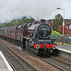 ex LMS Jubilee 5690 Leander passing through Stepps station