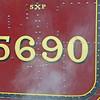 ex LMS Jubilee 5690 Leander in Platform 2 of Glasgow Central Station