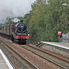 ex LMS Jubilee 5690 Leander approaching Stepps station