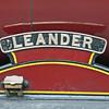 Nameplate of ex LMS Jubilee 5690 Leander