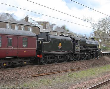 45407 on Edinburgh to Ayr charter