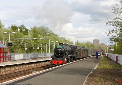 45407 on return leg of Edinburgh to Ayr Charter