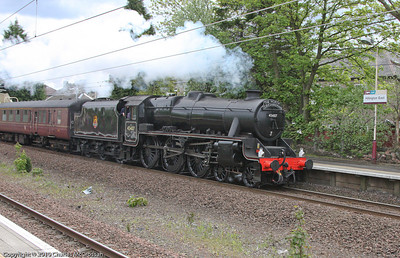 45407 on Edinburgh to Ayr charter (carrying The North Yorkshireman headboard - should have been Cathedrals Express)