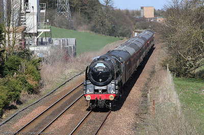 70013 Oliver Cromwell passing through Cowdenbeath