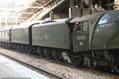 60019 Bittern showing double tender arrangement