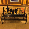 Station Bench memorial to armed forces