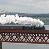 61994 The Great Marquess crosses the northern lattice section of the Forth Rail Bridge