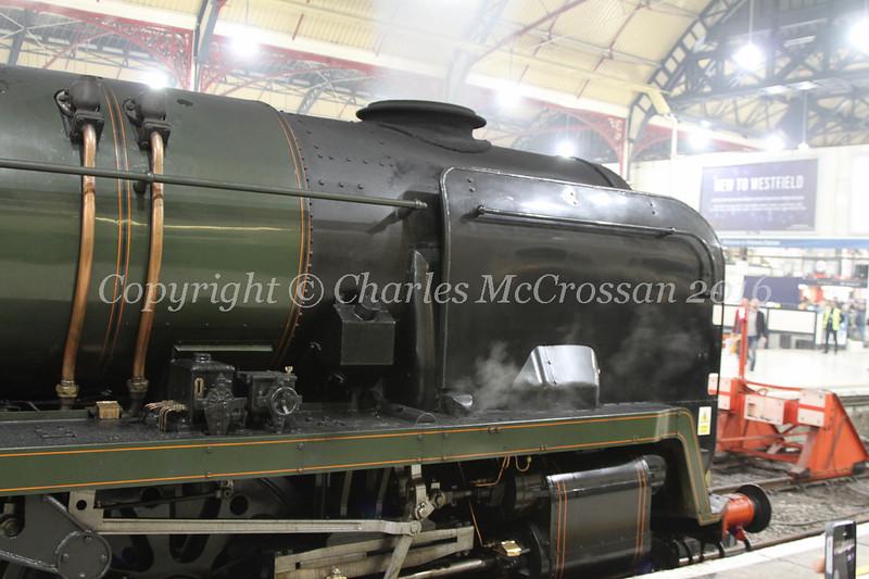 Rebuilt Light Pacific Class 4-6-2 no 34046 Braunton (running as 34052 Lord Dowding)