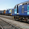 37 087 Keighley and Worth Valley Railway; 37 229 Jonty Jarvis and 20 302 and 20 303