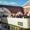 Open top tour bus at Scarborough on our way to the Spa