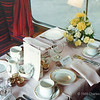 Mallard 88 special table setting - Full English breakfast served on way out and Dinner (with Mallard Duck!) served on the way home - the way to travel!