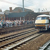 Class 90 in Intercity livery at Doncaster