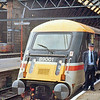 Unique Electric loco 89001 at head of special train from Kings Cross to Doncaster where Mallard took over.