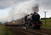 6201 Princess Elizabeth approaching the foot crossing just after Blackrod on Manchester Carlisle excursion 14/08/10