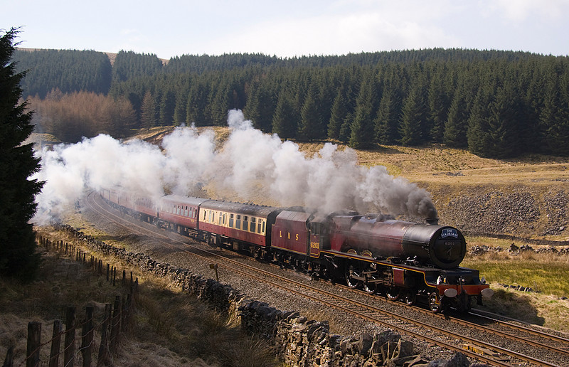 6201 Princess Elizabeth leaving Blea Moor tunnel with a excursion to Carlisle 17/04/10