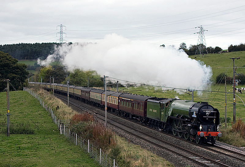 A1 60103 Tornado roaring up Shap at Little Strickland 10/10/09