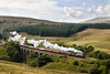 60009 Union of South Africa crosses Dent Head Viaduct with the Cumbrian Mountain Express - 14/09/13