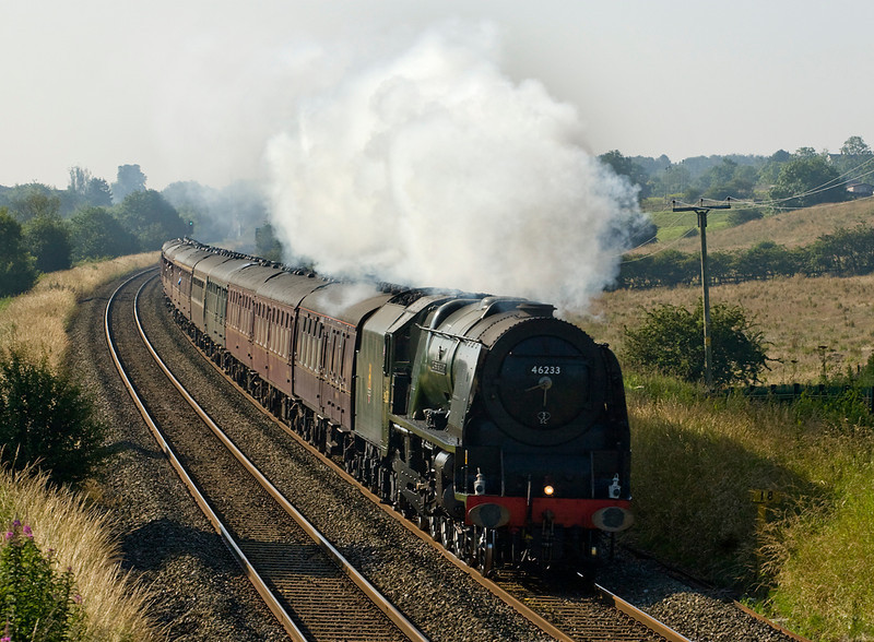 46233 Duchess of Sutherland takes the Cumbrian mountain express past Blackrod - 21/07/12