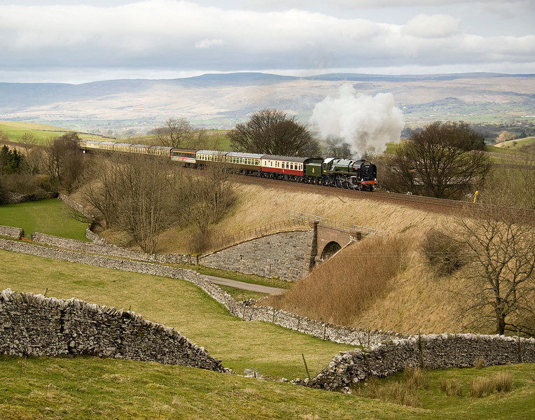 70000, Britania passing Bullgill with a Carlisle- Crewe excursion.   A day where the sun resolutely refused to come out for me.  10/3/12