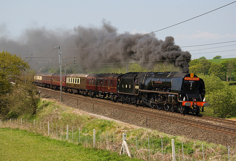 6233 Duchess of Sutherland on the climb to Grayrigg  at Docker with an excursion to Carlisle 22/05/10