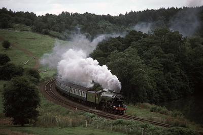 4472 Flying Scotsman at Kirkham Abbey  Scarborough York train 9/8/87