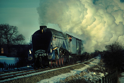 4498 Sir Nigel Gresley near Bearly aqueduct 16/2/85