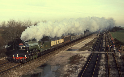 4472 Flying Scotsman at Stenson Junction 27/12/85