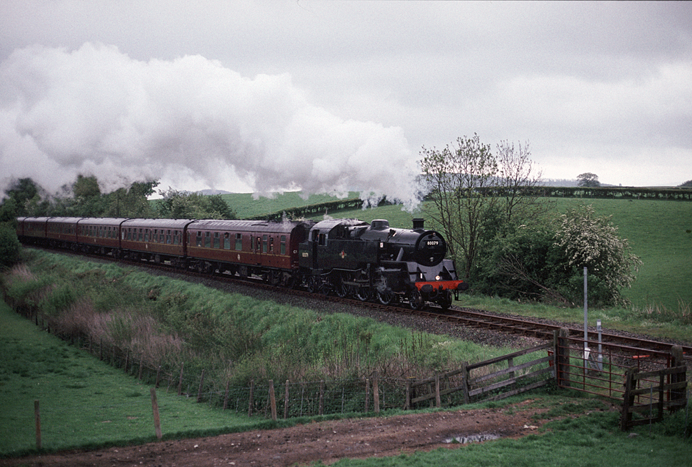 4MT 80079  passing Long Meadowend 14/5/93
