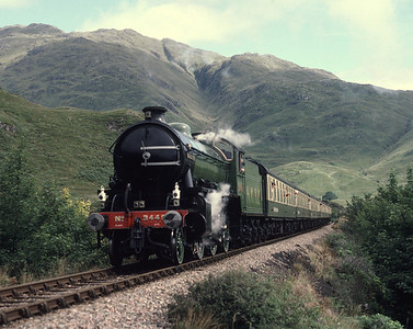 K1 2005 running as 3445 at Glenfinnan 30/8/87