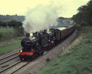 3440 City of Truro and 6000 King George V leaving Ludlow 24/5/86