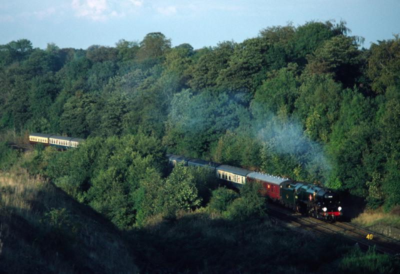 35028 Clan line on Gresford Bank, Wrexham 26/9/84