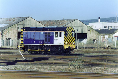 Inverness carriage shed pilot is 08308. It finds employment shunting the sleeper stock.