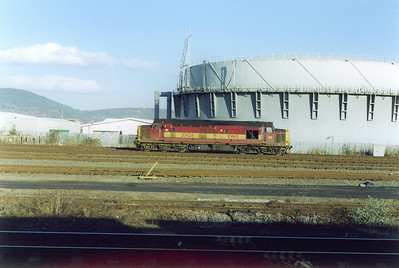 37426 is seen again the following day basking in the February sun on Milburn Yard, Inverness.  19/2/2003