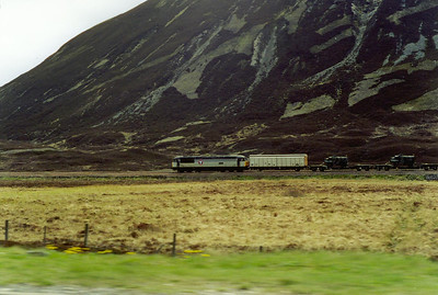 I took this shot from a moving car doing about 60mph, 56033 reaches the 1,484 foot summit of Druimuachdar Pass.