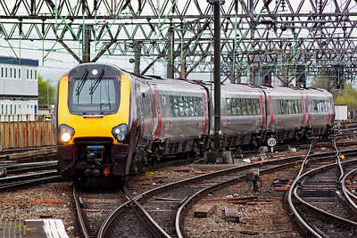National Express liveried 221120 runs in with a terminating service from Bristol Temple Meads, 1M37 1100 off the city.
