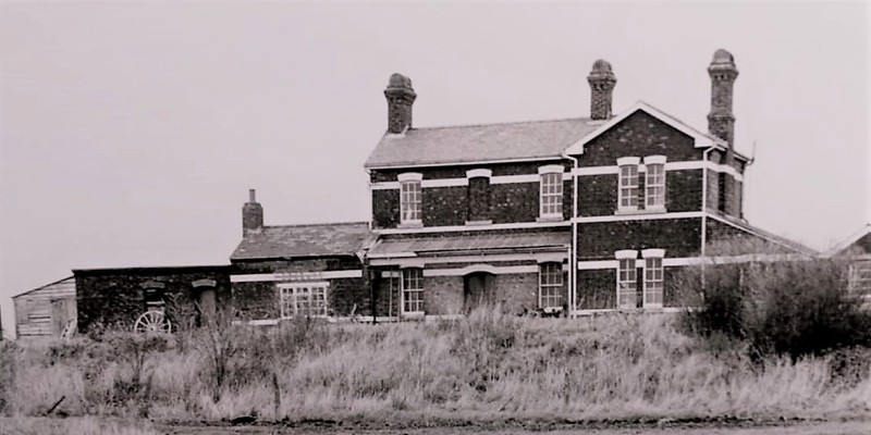 French Drove station buildings after closure. Image with kind permission of Norman Pannell.