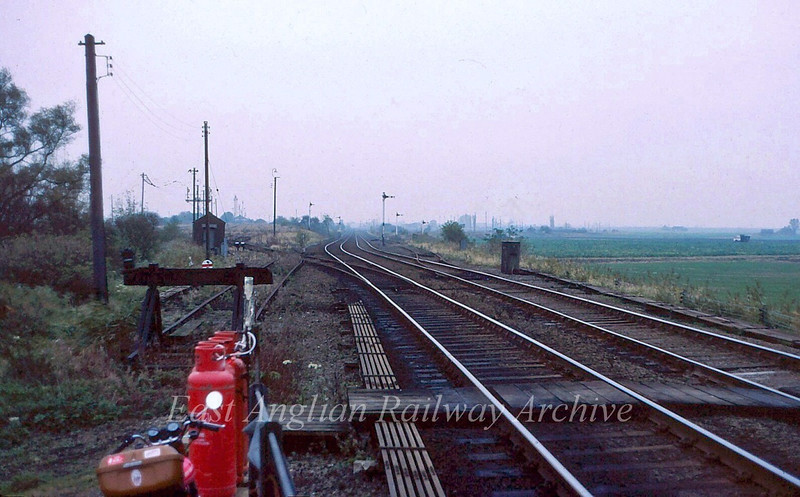 Twenty Feet River looking back towards Whitemoor Yard.  September 1982
