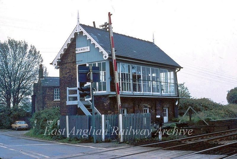 Cowbit Signal Box. September 1982