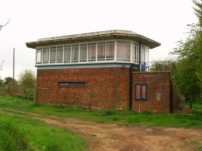 Murrow West Signal Box. Now a private residence.  15th April 2005. Photo with kind permission of Peter Heath.