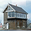 St James Deeping  signal box on the Peterborough to Spalding line. May 1981