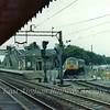 A Sudbury bound Cravens two car set stands at the Stour Valley Branch Platform at Marks Tey.  9th September 1974.