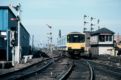 150 107 leaving Leicester with 17.10 to Derby June 1986.   Clearly re-signalling is iminent